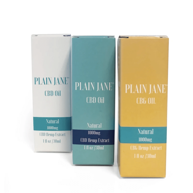 plain jane cbd oil and cbg oil
